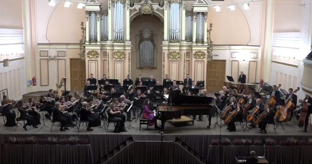Grieg Concerto with the orchestra of Lviv